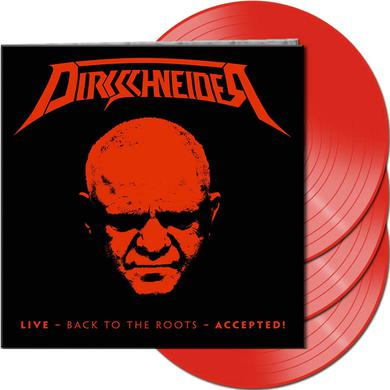 DIRKSCHNEIDER LIVE - BACK TO THE ROOTS - ACCEPTED! (RED VINYL) Vinyl Record