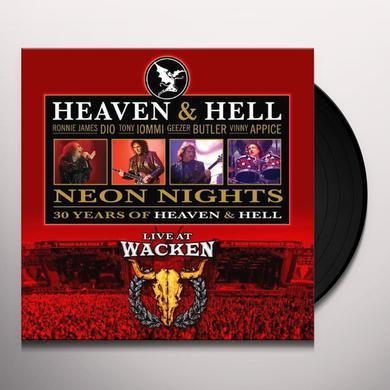 Heaven & Hell NEON NIGHTS: LIVE AT WACKEN (TRANSPARENT VINYL) Vinyl Record