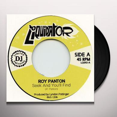 Roy Panton SEEK & YOU'LL FIND Vinyl Record