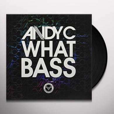 WHAT BASS / SPEED OF LIGHT (ANDY C REMIX) Vinyl Record