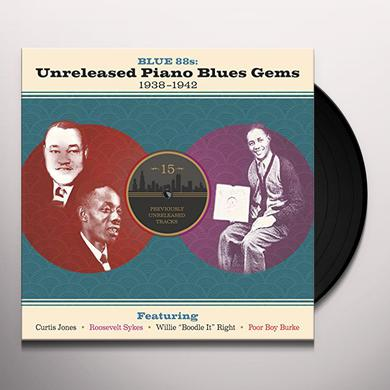 BLUE 88S: UNRELEASED PIANO BLUES GEMS / VARIOUS Vinyl Record