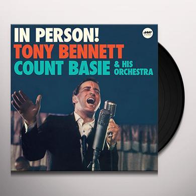 Tony Bennett IN PERSON + 1 BONUS TRACK Vinyl Record
