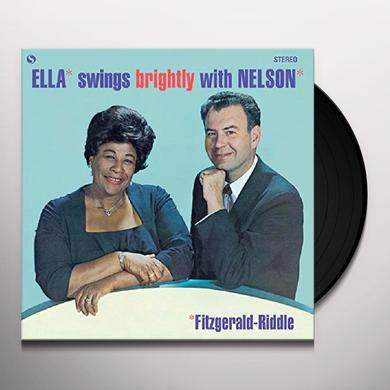 Ella Fitzgerald ELLA SWINGS BRIGHTLY WITH NELSON + 1 BONUS TRACK Vinyl Record