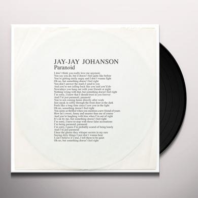 Jay-Jay Johanson PARANOID Vinyl Record