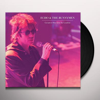 Echo & the Bunnymen GREATEST HITS LIVE IN LONDON Vinyl Record