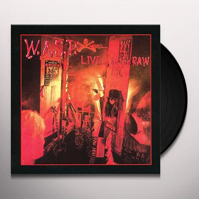 Wasp LIVE IN THE RAW Vinyl Record