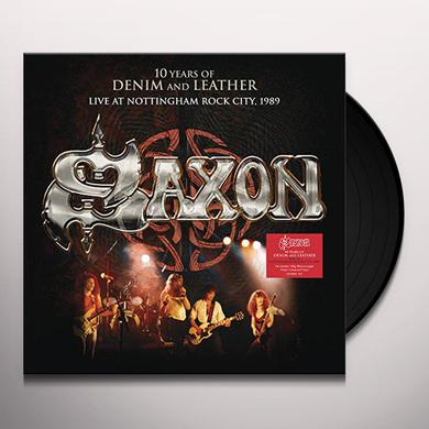 Saxon 10 YEARS OF DENIM & LEATHER: LIVE NOTTINGHAM ROCK Vinyl Record