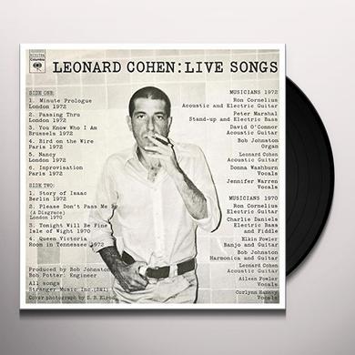 LEONARD COHEN: LIVE SONGS Vinyl Record