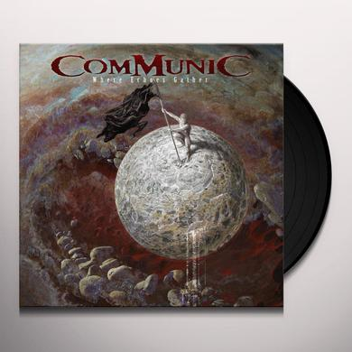 Communic WHERE ECHOES GATHER (RED/WHITE MARBLED VINYL) Vinyl Record