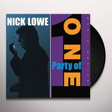 Nick Lowe PARTY OF ONE Vinyl Record