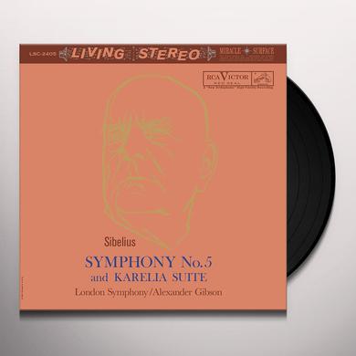 Alexander Gibson SIBELIUS: SYMPHONY NO. 5 & KARELIA SUITE Vinyl Record