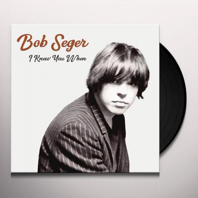 Bob Seger I KNEW YOU WHEN Vinyl Record