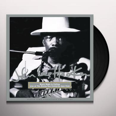 John Lee Hooker BLACK NIGHT IS FALLING - LIVE AT THE RISING SUN Vinyl Record