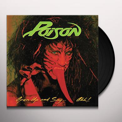 Poison OPEN UP & SAY AHH Vinyl Record