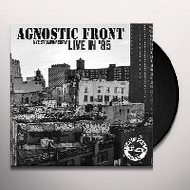 Agnostic Front LIVE IN 85: NYC STOMPIN CREW Vinyl Record