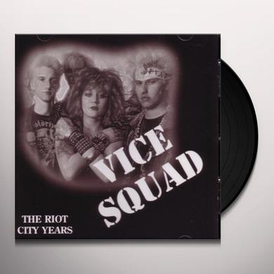 Vice Squad RIOT CITY YEARS Vinyl Record