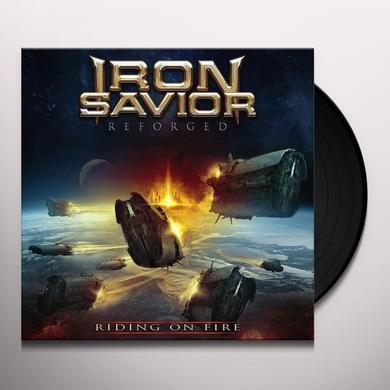 Iron Savior REFORGED - RIDING ON FIRE Vinyl Record
