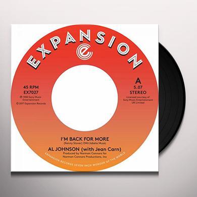 Al Johnson I'M BACK FOR MORE / I'VE GOT MY SECOND WIND Vinyl Record