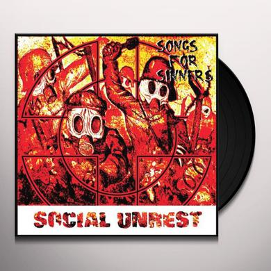 Social Unrest SONGS FOR SINNERS Vinyl Record