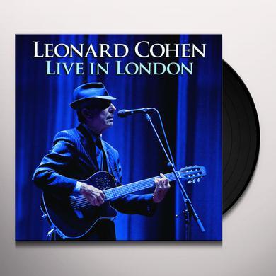 Leonard Cohen LIVE IN LONDON Vinyl Record