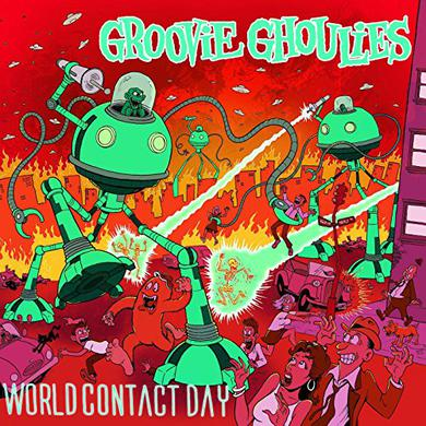 Groovie Ghoulies WORLD CONTACT DAY Vinyl Record