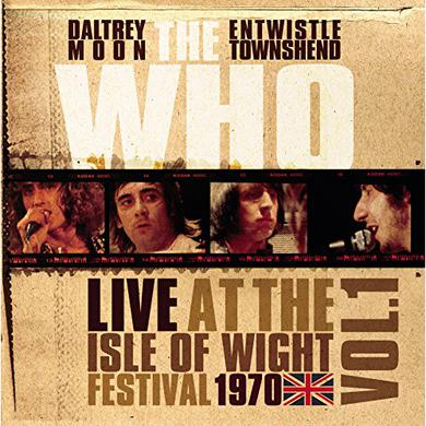 The Who LIVE AT THE ISLE OF WIGHT VOL 1 Vinyl Record