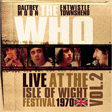 The Who LIVE AT THE ISLE OF WIGHT VOL 2 Vinyl Record