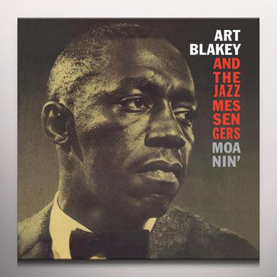 Art Blakey / Jazz Messengers MOANIN Vinyl Record - Colored Vinyl, Limited Edition, 180 Gram Pressing, Red Vinyl, Remastered, Spain Release