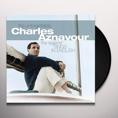 UNFORGETTABLE CHARLES AZNAVOUR Vinyl Record