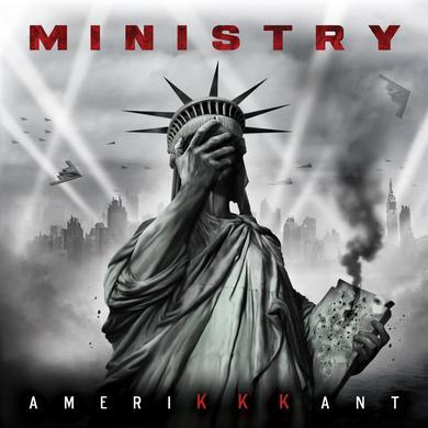 Ministry AMERIKKKANT (RED & BLACK SWIRL VINYL) Vinyl Record