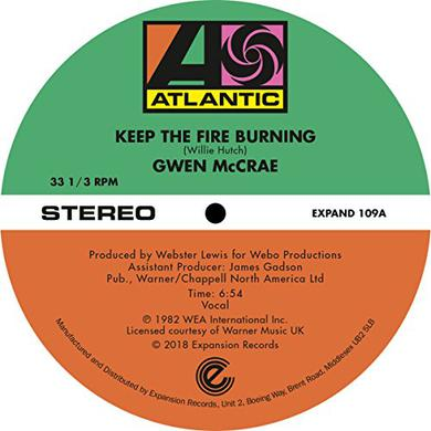 Gwen Mccrae KEEP THE FIRE BURNING / FUNKY SENSATION Vinyl Record