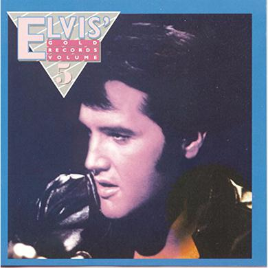 ELVIS' GOLD RECORDS 5 Vinyl Record