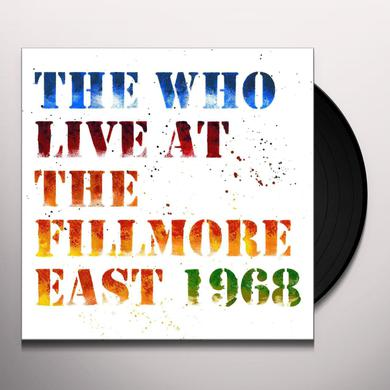 The Who LIVE AT THE FILLMORE EAST 1968 Vinyl Record