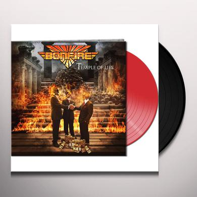 Bonfire TEMPLE OF LIES (RED VINYL) Vinyl Record
