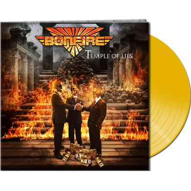 Bonfire TEMPLE OF LIES (YELLOW VINYL) Vinyl Record