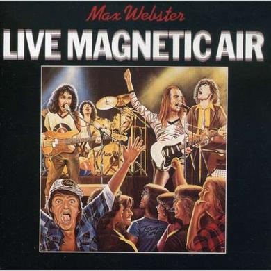 Max Webster LIVE MAGNETIC AIR Vinyl Record