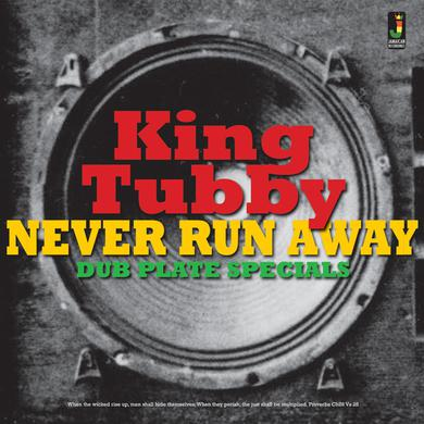 King Tubby NEVER RUN AWAY / DUB PLATE SPECIALS Vinyl Record