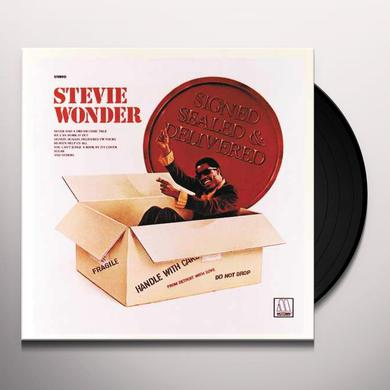 Stevie Wonder SIGNED SEALED & DELIVERED Vinyl Record