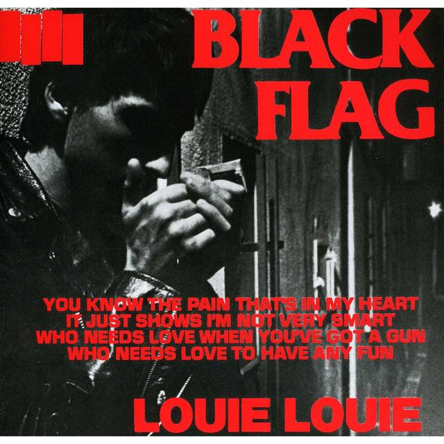 Black Flag LOUIE LOUIE Vinyl Record