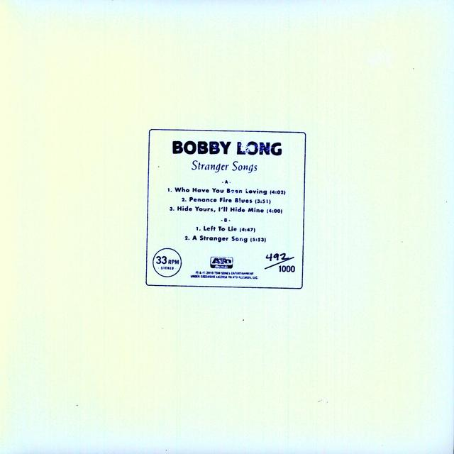 "Bobby Long STRANGER SONGS (10"") Vinyl Record"