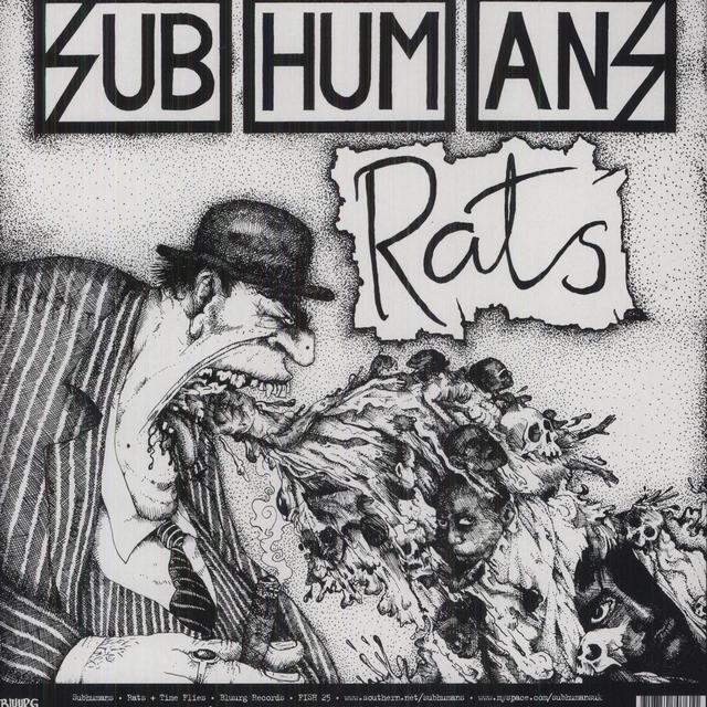 Subhumans TIME FLIES & RATS Vinyl Record