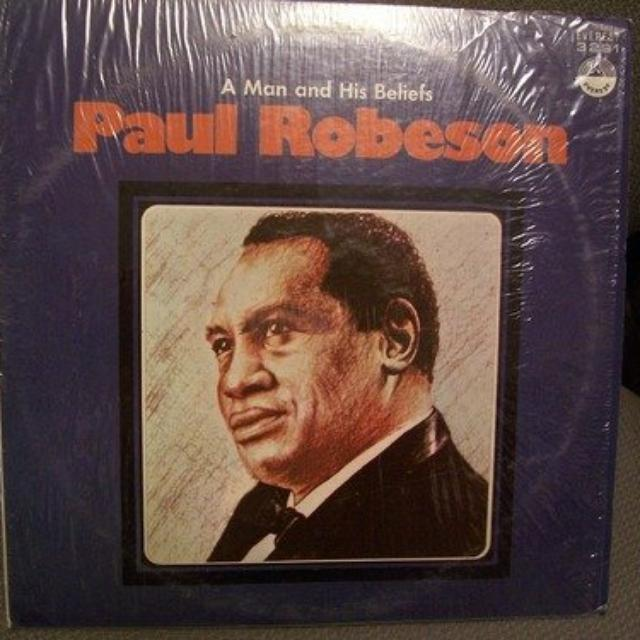 Paul Robeson MAN & HIS BELIEFS Vinyl Record