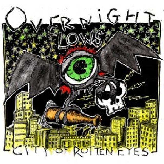 Overnight Lows CITY OF ROTTEN EYES Vinyl Record