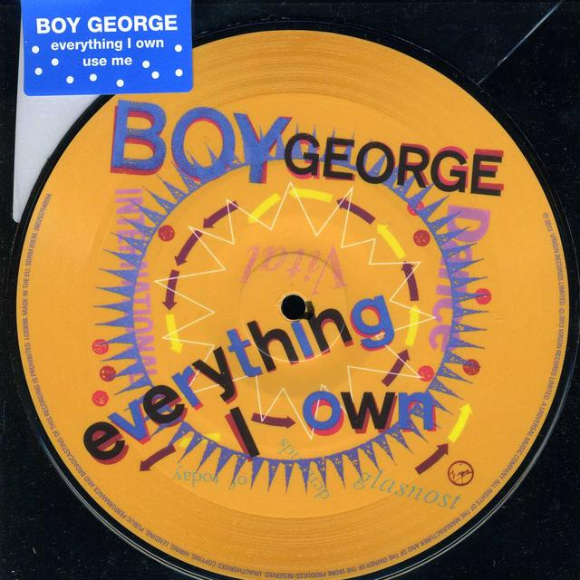 Boy George EVERYTHING I OWN Vinyl Record