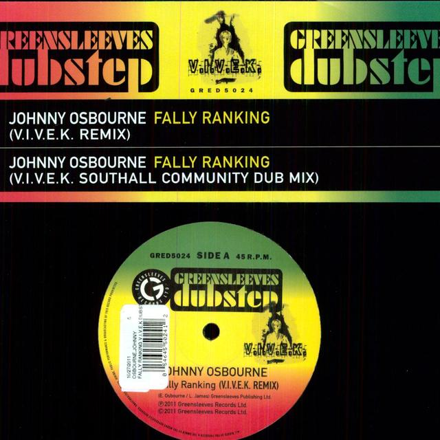 Johnny Osbourne FALLY RANKING V.I.V.E.K DUBSTEP REMIX Vinyl Record - UK Release