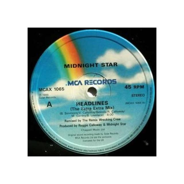 Midnight Star HEADLINES/MIDAS TOUCH Vinyl Record - Canada Release