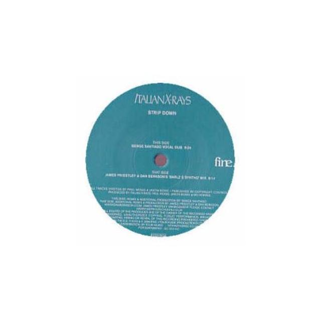 Strip Down ITALIEN X-RAYS Vinyl Record