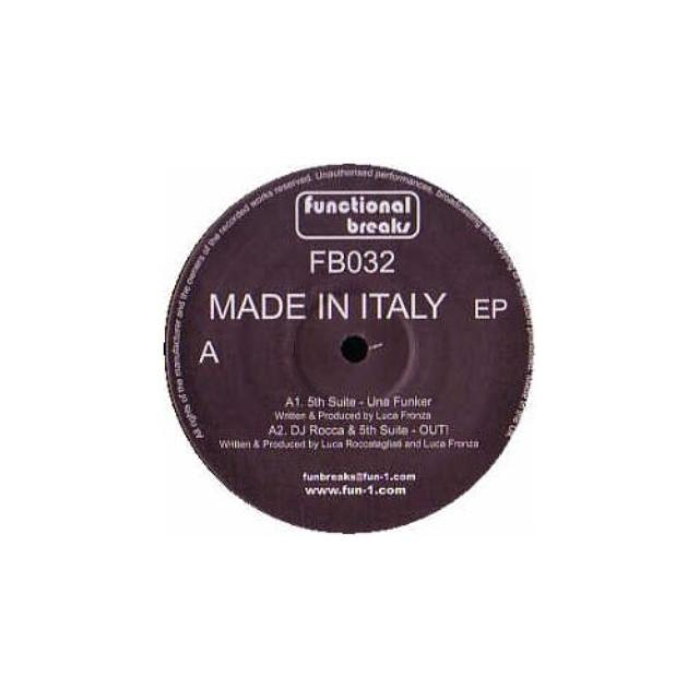 Dj Rocca & 5Th Suite MADE IN ITALY Vinyl Record - UK Release
