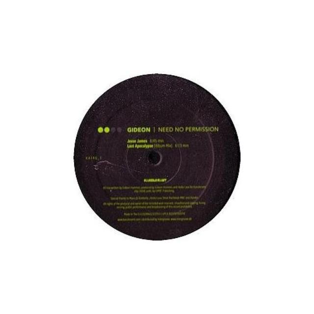 Gideon NEED NO PERMISSION 1 Vinyl Record