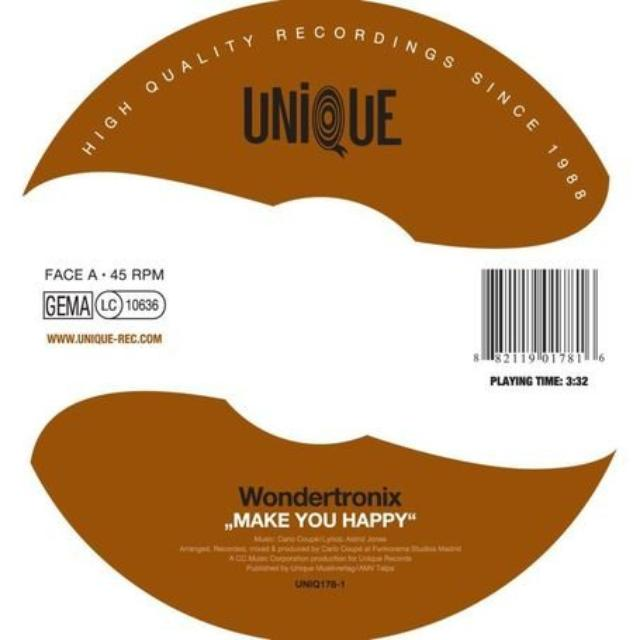 Wondertronix MAKE YOU HAPPY Vinyl Record - UK Release